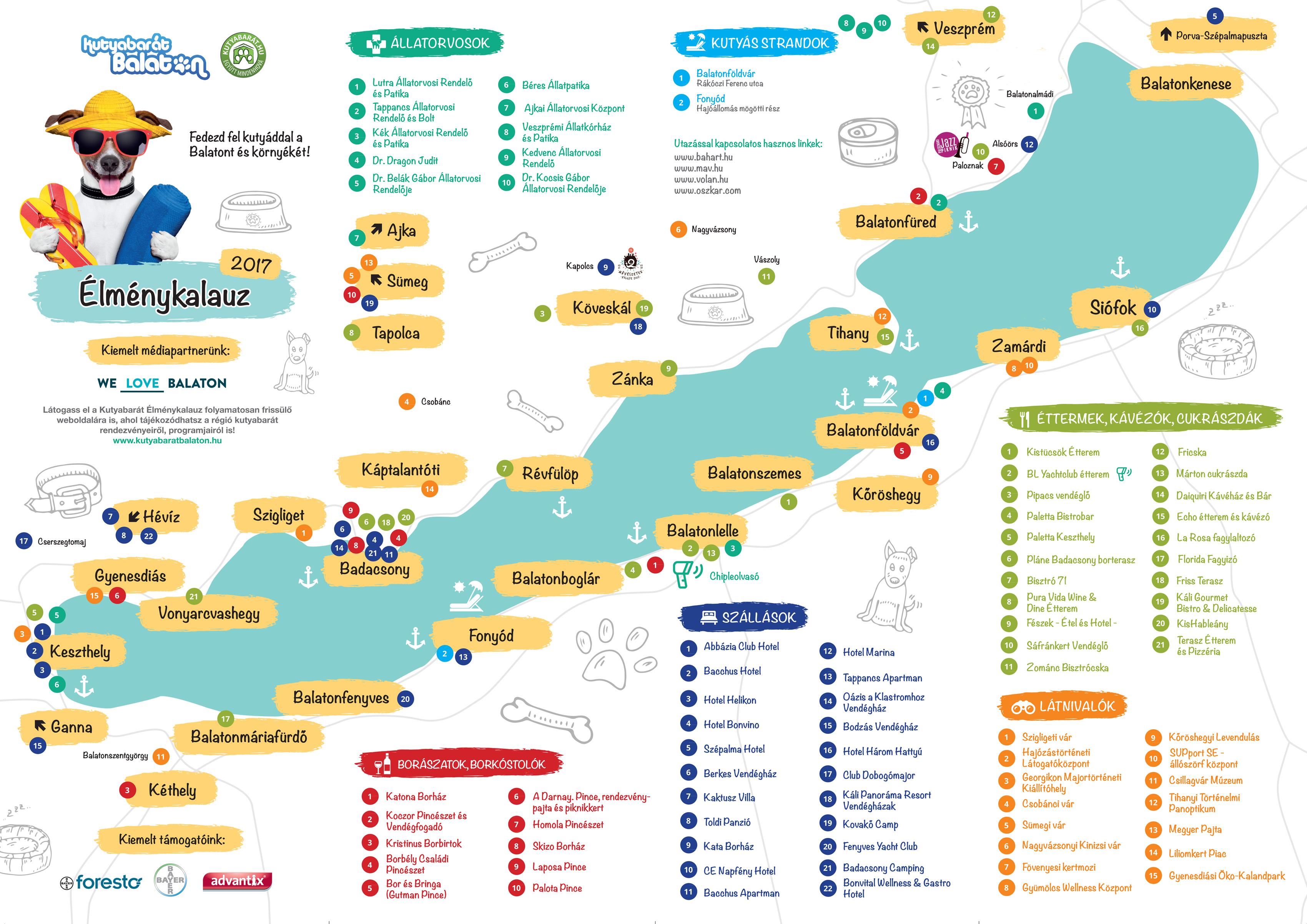 balaton látnivalók térkép Térkép letöltés   Kutyabarát Balaton balaton látnivalók térkép